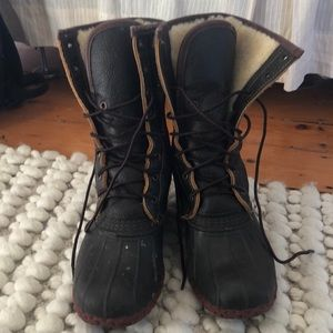 LL Bean Limited edition fleece boots
